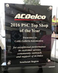 AC Delco Top Shop Award